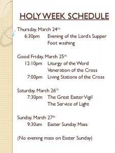 thumbnail of HOLY WEEK SCHEDULE