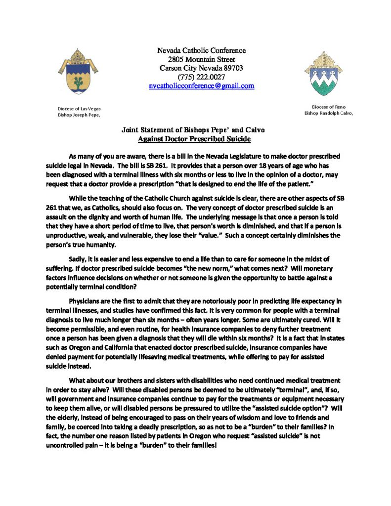 thumbnail of Joint Statement Opposing Doctor Prescribed Suicide