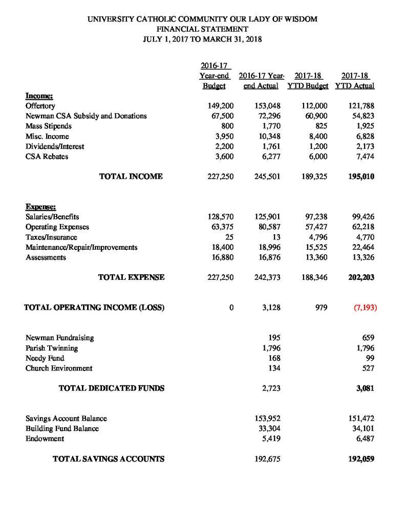 thumbnail of Financial Summary 033118
